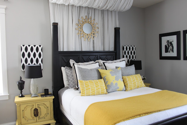 Bedroom Elegant: Grey And Yellow Bedroom Inspiration on yellow and gray throw pillows, yellow and gray art, yellow and gray rugs, yellow and gray bed set, yellow and gray baby shower, yellow and gray nursery, yellow and gray decor, yellow and gray bedding, yellow and gray playroom, yellow and gray livingroom, yellow and gray wallpaper, yellow and gray dresser, yellow and gray color, yellow and gray accent walls, pale yellow bedroom, blue and brown bedroom, yellow and gray bed in a bag, yellow and gray bathroom, yellow and gray drapes, yellow and gray chevron,